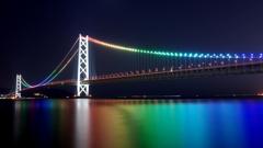 光り輝く海~明石海峡大橋2015