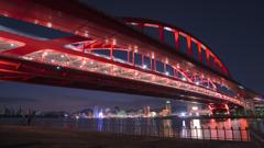 神戸大橋の夜景~ポートアイランド北公園2020③