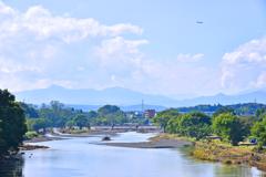 入間川・豊水橋からの眺め