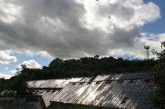 太陽パネルのようなブドウハウス