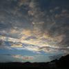 山と空が織りなす夕暮れ時