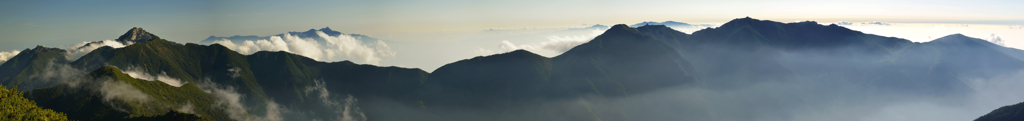 甲斐駒と鳳凰三山