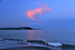 夏・海岸の朝