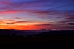 北アルプス夕景