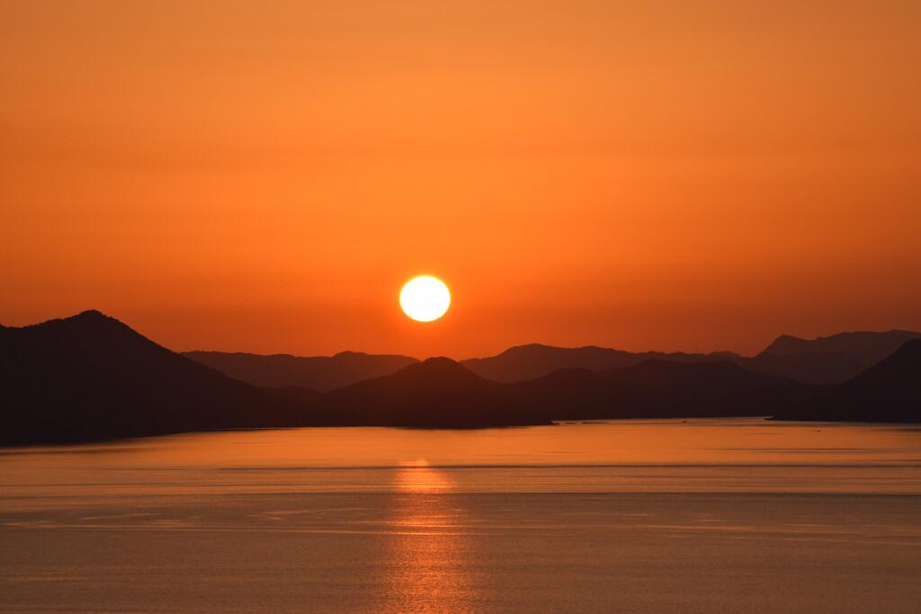 御立岬からの夕日