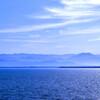 不知火海から望む山々