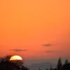 ベランダからの夕陽