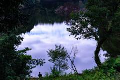 ため池に浮かぶ空