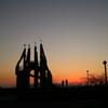 夕闇の御立岬公園