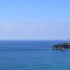 上り浜パークから望む海の青
