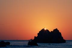 日の出と観音様