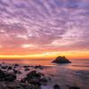 夜明けの太平洋ロングビーチ