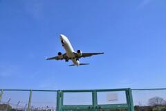 伊丹空港の直下にて