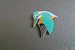私のコレクション 野鳥バッジ 「カワセミ」