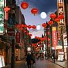 中華街の夕暮れ