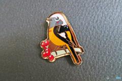 私のコレクション 野鳥バッジ「キビタキ」
