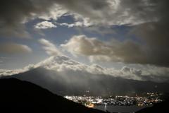 富士雲隠れ