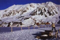 立山連峰の雪景色
