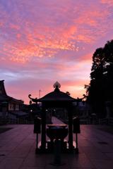 とある寺の朝