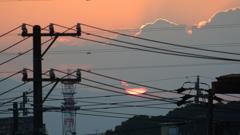 微妙な夕陽でした。 2021.06.09