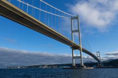 朝の白鳥大橋