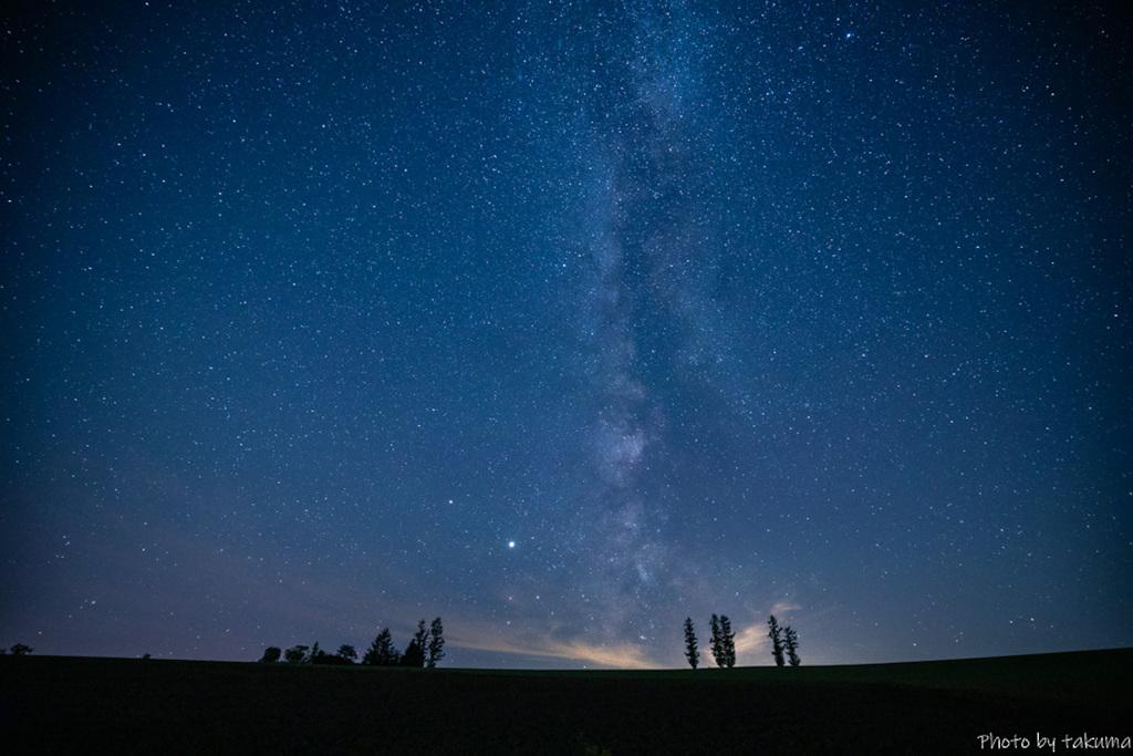 美瑛の星空