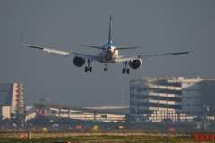 羽田空港 A滑走路(16R)着陸 ANA B-737