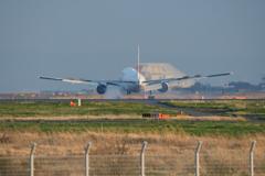 羽田空港 A滑走路(16R)着陸 JAL B-777