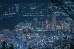 掬星台からのメリケンパークの夜景