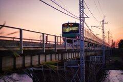 夕暮れ・鉄橋