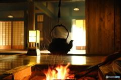 囲炉裏の火