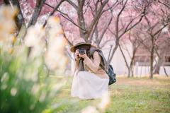 梅に水仙と美魔女さん