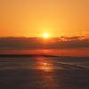 サロマ湖の朝陽 晩冬1