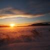 雪原の初日の出