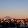 オールドレンズで朝焼け富士山