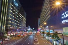 阿部野橋歩道橋からの夜景