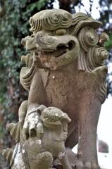 浅間社:狛犬さん 昭和7年