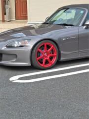 真っ赤なホイール:HONDA S2000