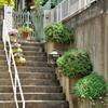 階段の上に玄関