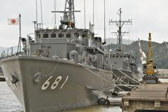 京都 舞鶴:海上自衛隊 すがしま型掃海艇