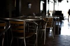 静かなカフェ 薄暗いカフェ