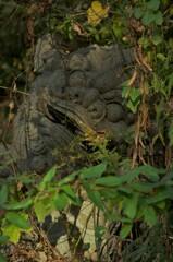 古代遺跡の石像。