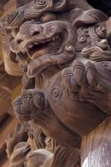 勝楽寺:山門の唐獅子