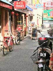 横浜中華街:裏路地 人いない