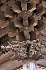 勝楽寺:木鼻の彫刻