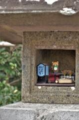 有鹿神社:石灯籠のヌシ
