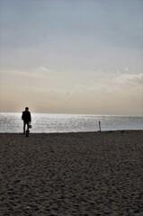 今日の砂浜