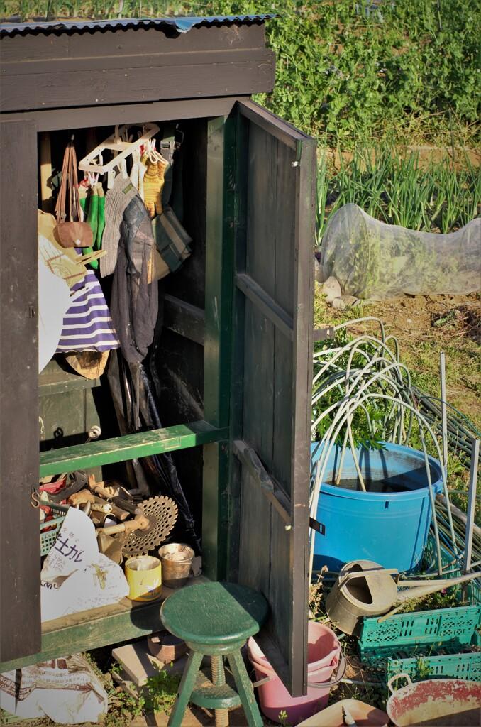 大公開:農具の収納棚