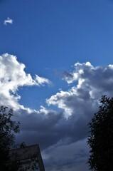雲が沸きたつ