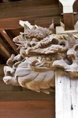 有鹿神社:木鼻